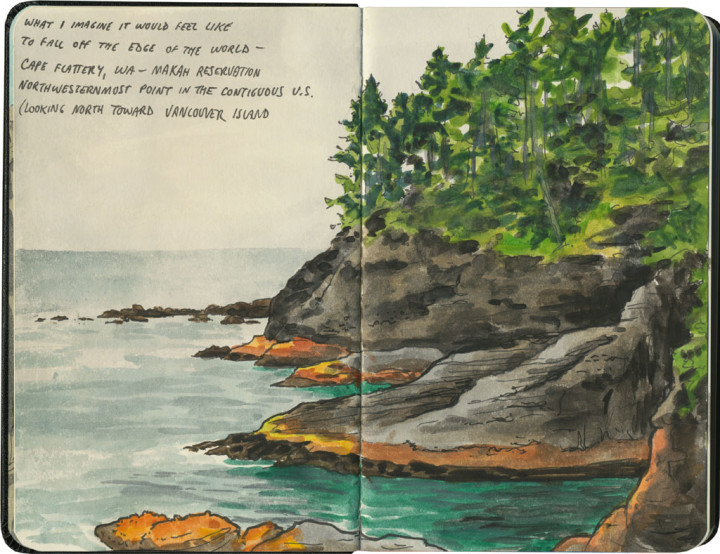 Cape Flattery sketch by Chandler O'Leary