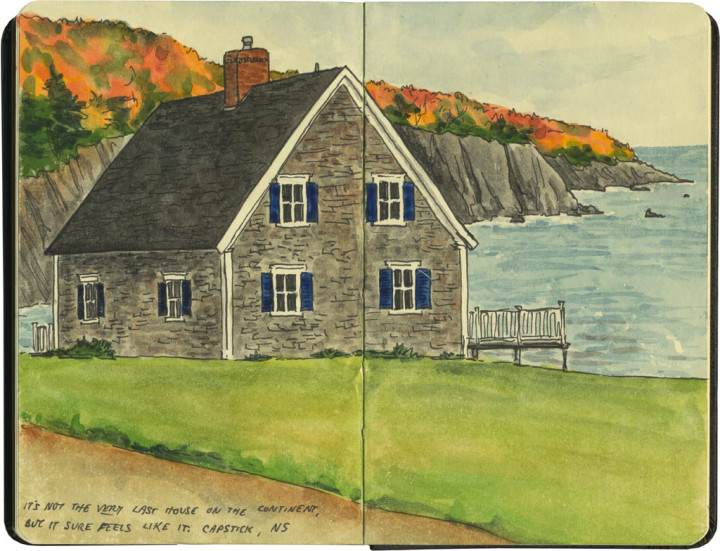 Cape Breton sketch by Chandler O'Leary