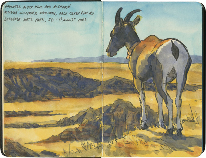 Badlands National Park sketch by Chandler O'Leary