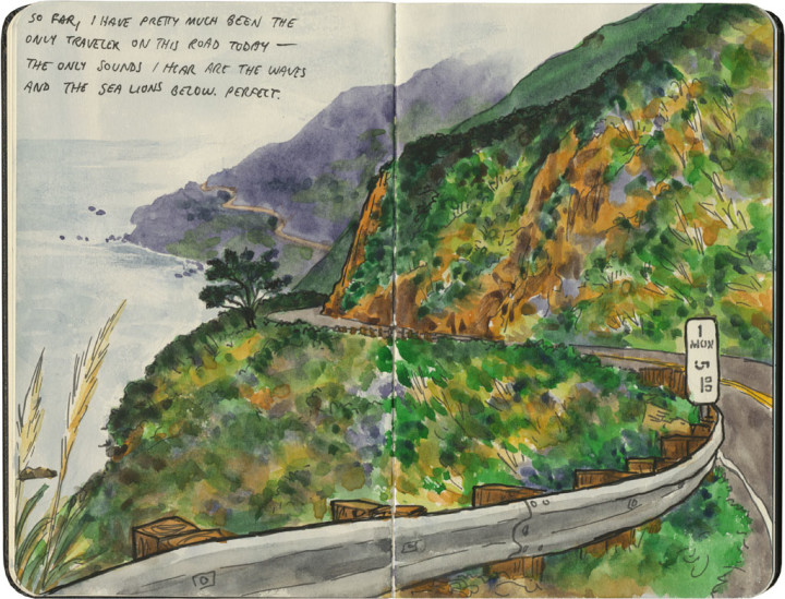 Big Sur sketch by Chandler O'Leary