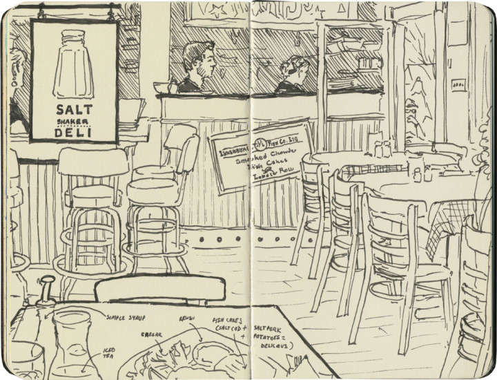 Salt Shaker Deli sketch by Chandler O'Leary