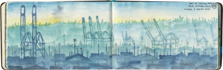 Port of Tacoma sketch by Chandler O'Leary