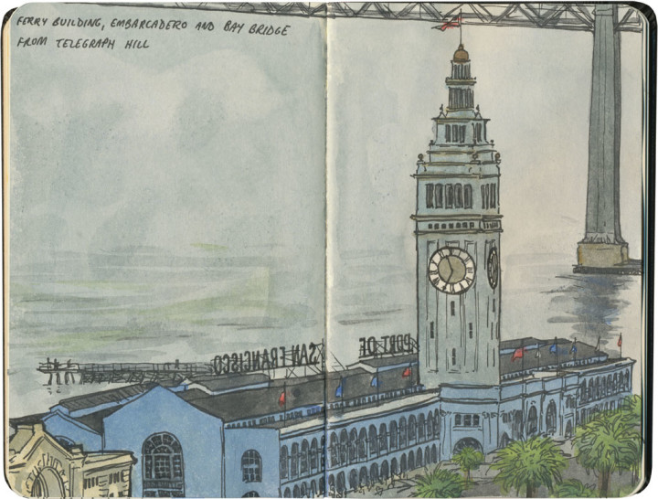 San Francisco sketch by Chandler O'Leary