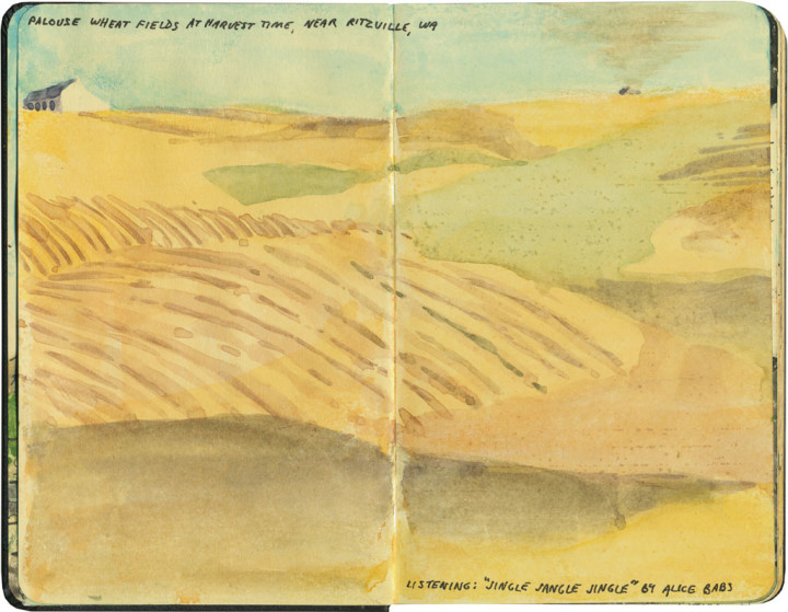 Palouse sketch by Chandler O'Leary