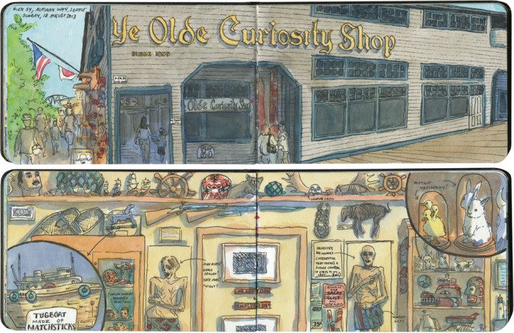Ye Olde Curiosity Shop sketch by Chandler O'Leary