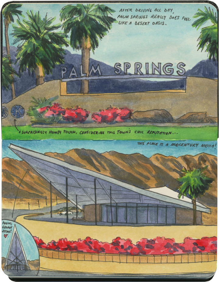 Palm Springs sketch by Chandler O'Leary