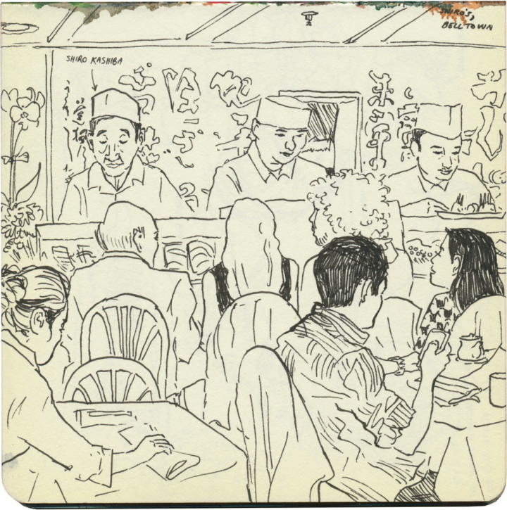 Shiro's restaurant sketch by Chandler O'Leary