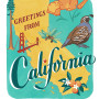 California card from the 50 States series illustrated and hand-lettered by Chandler O'Leary
