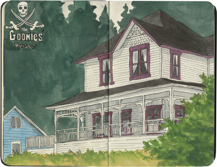 Goonies house sketch by Chandler O'Leary