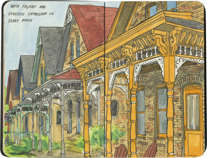 Milwaukee Avenue sketch by Chandler O'Leary