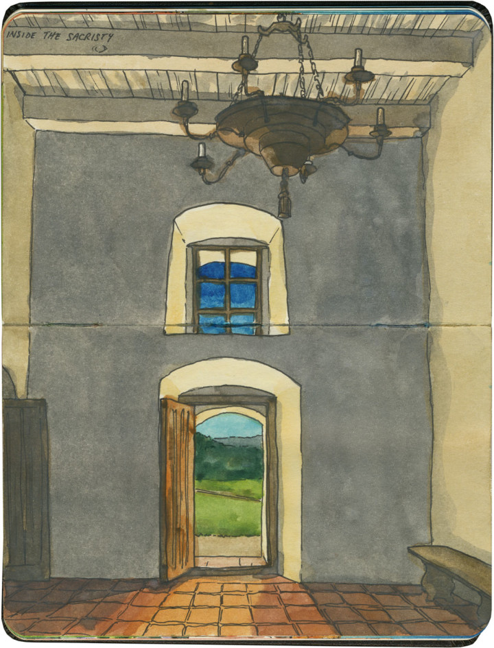 Mission La Purisima sketch by Chandler O'Leary