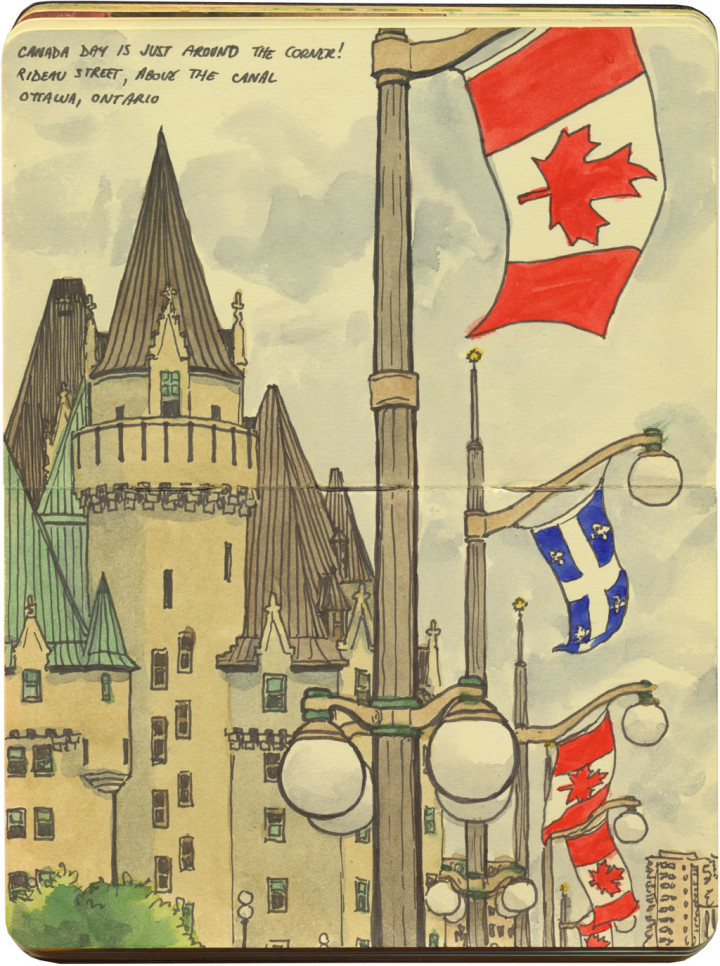 Ottawa sketch by Chandler O'Leary