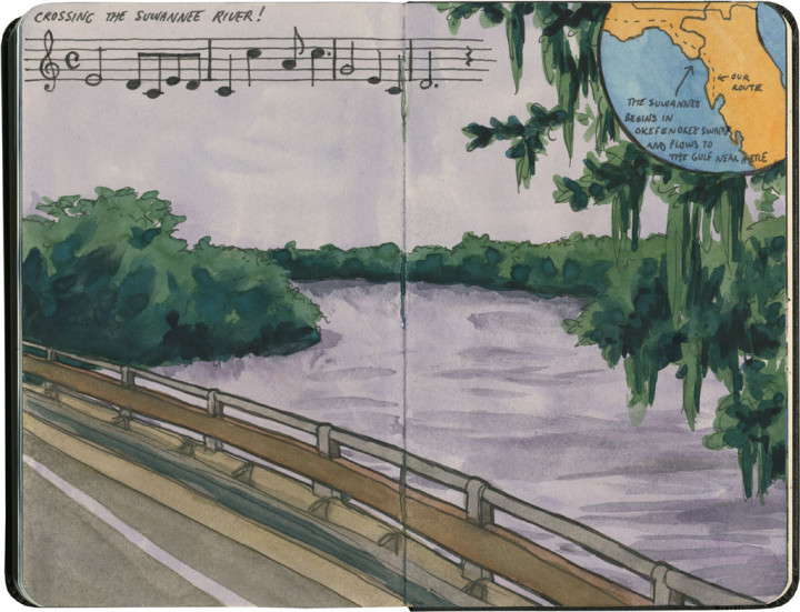 Suwannee River sketch by Chandler O'Leary