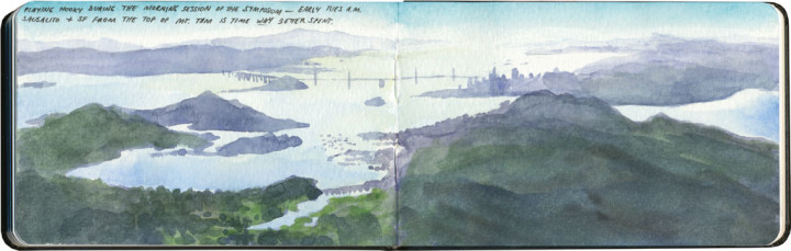 San Francisco Bay area sketch by Chandler O'Leary