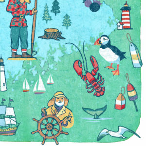 Detail of Maine illustration by Chandler O'Leary