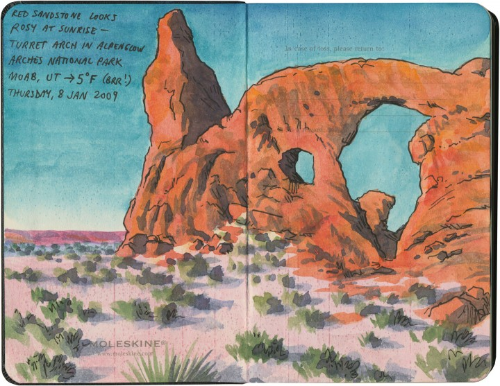 Arches National Park sketch by Chandler O'Leary