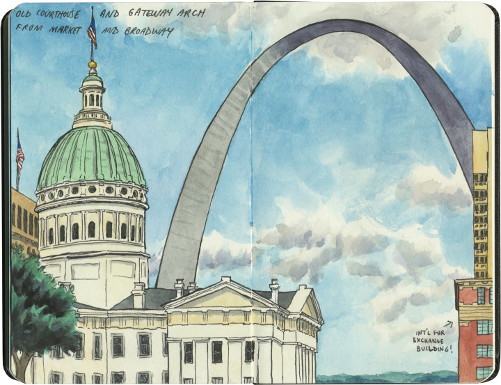 St. Louis Gateway Arch sketch by Chandler O'Leary