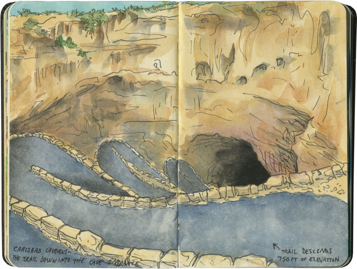 Carlsbad Caverns National Park sketch by Chandler O'Leary
