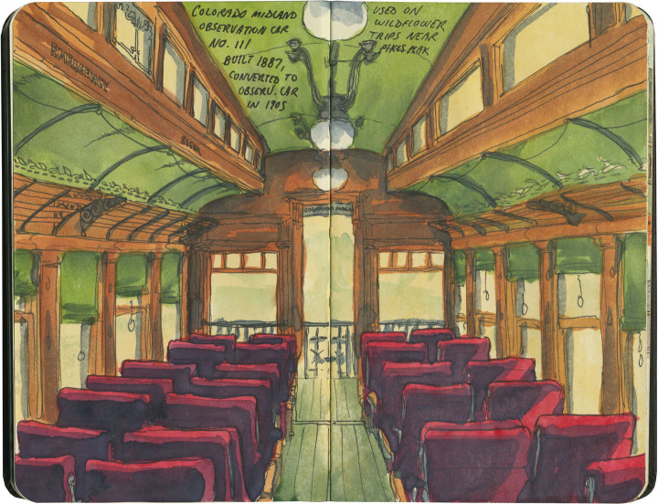 Colorado Railroad Museum sketch by Chandler O'Leary