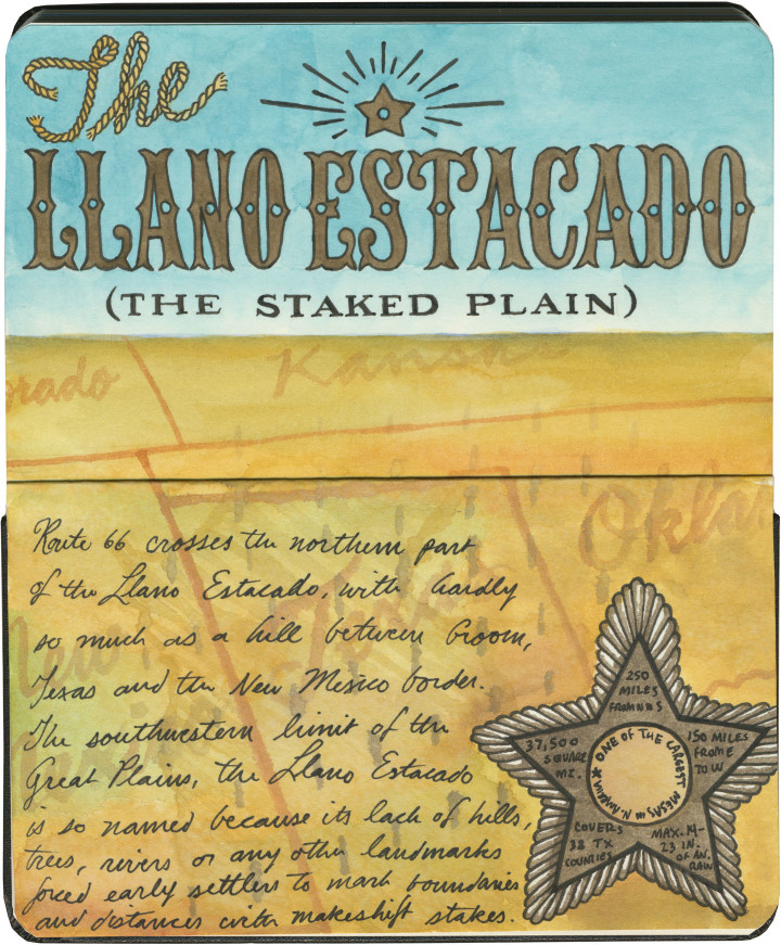 Llano Estacado sketch by Chandler O'Leary