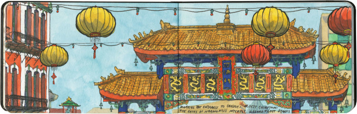Victoria Chinatown sketch by Chandler O'Leary