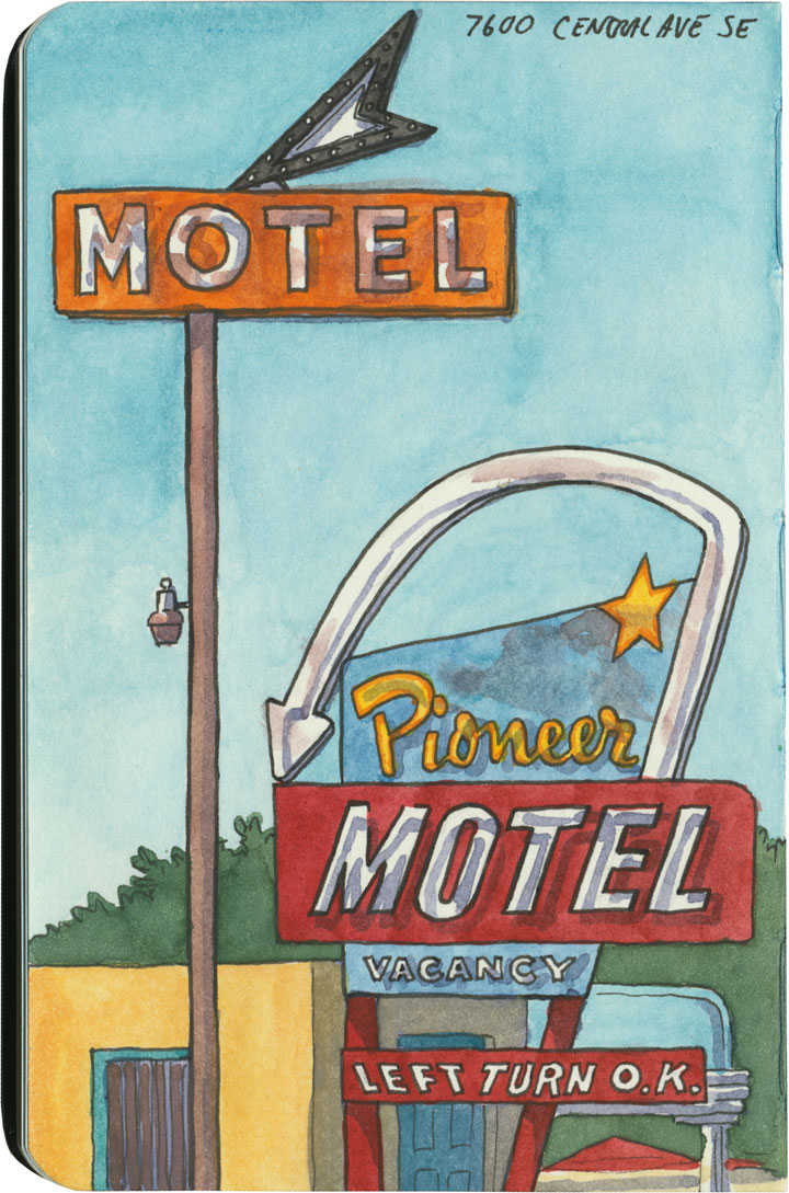 Route 66 sketch by Chandler O'Leary
