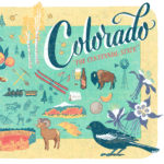 Detail of Colorado illustration by Chandler O'Leary