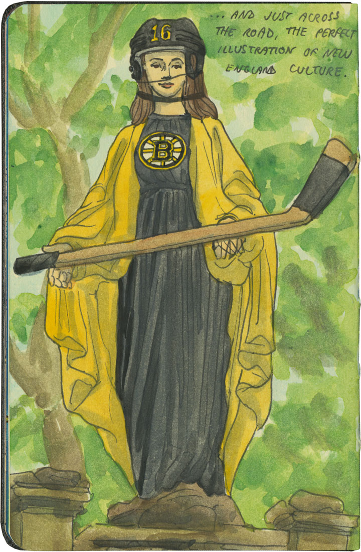 Bruins Madonna sketch by Chandler O'Leary