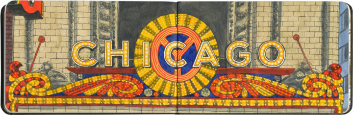 Chicago Theatre sketch by Chandler O'Leary