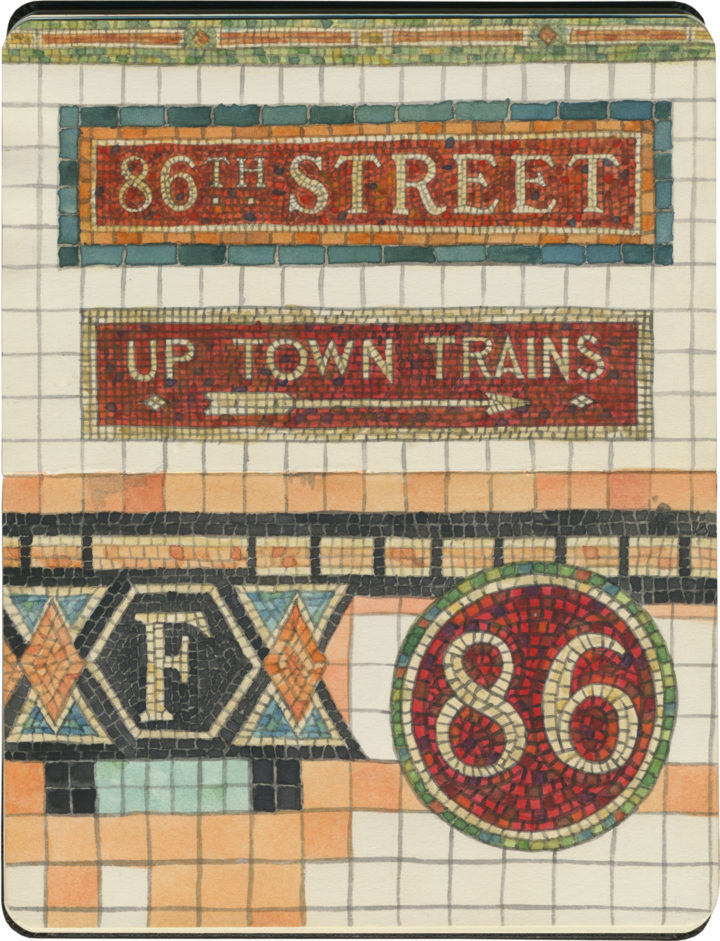 NYC subway tile sketch by Chandler O'Leary