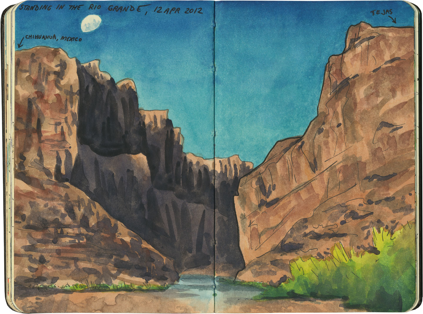 Big Bend National Park sketch by Chandler O'Leary