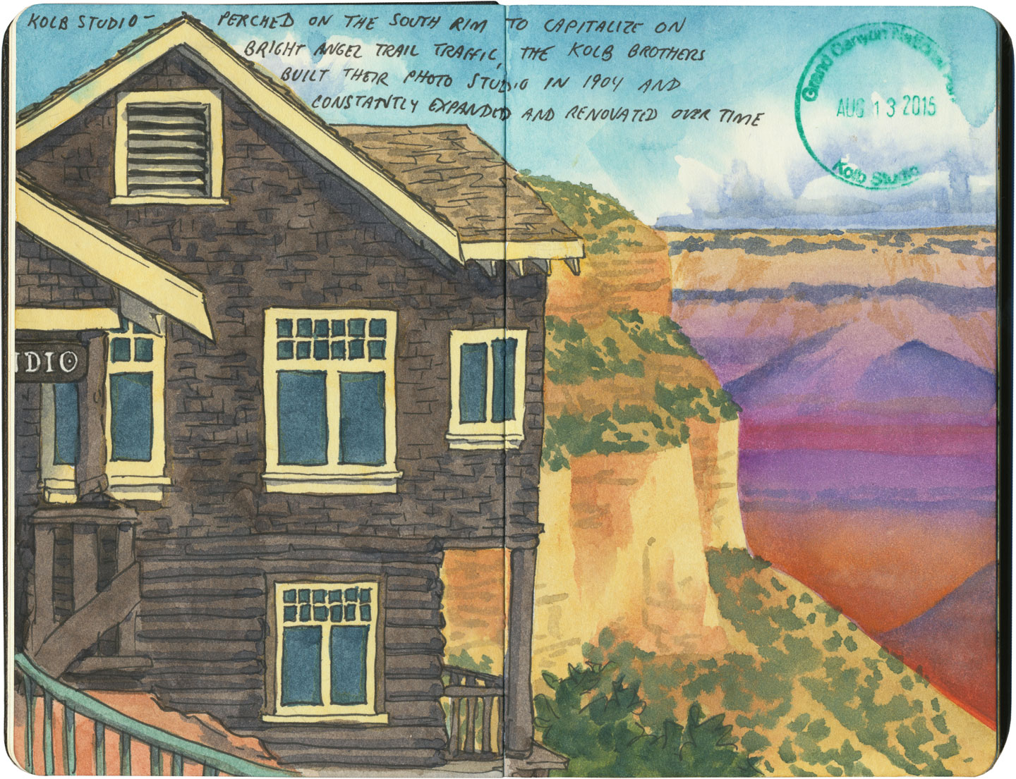 Grand Canyon National Park sketch by Chandler O'Leary