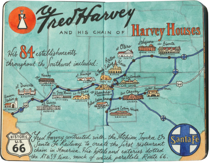 Harvey House map sketch by Chandler O'Leary