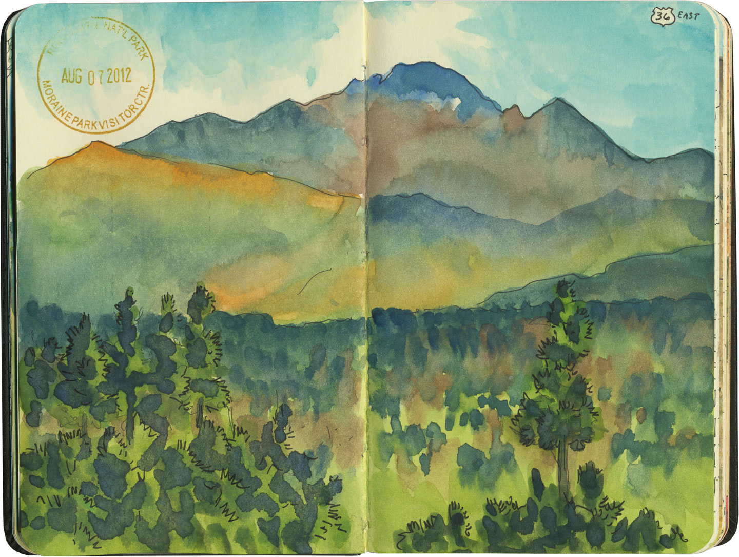 Rocky Mountain National Park sketch by Chandler O'Leary