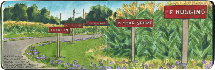 Route 66 Burma Shave sketch by Chandler O'Leary