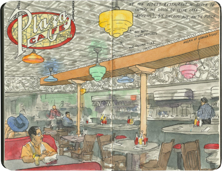 Plaza Cafe sketch by Chandler O'Leary