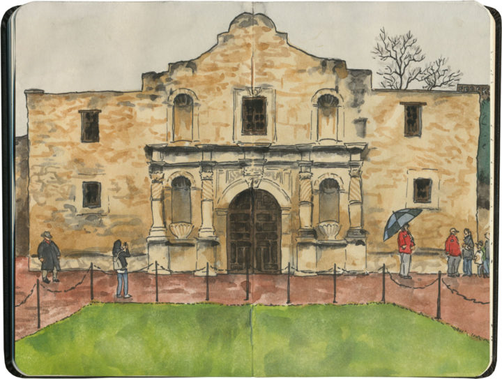 Alamo sketch by Chandler O'Leary