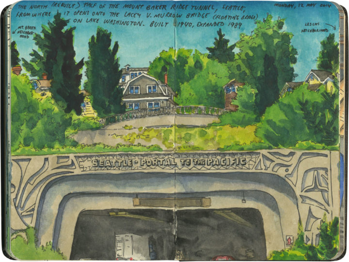 Seattle tunnel sketch by Chandler O'Leary