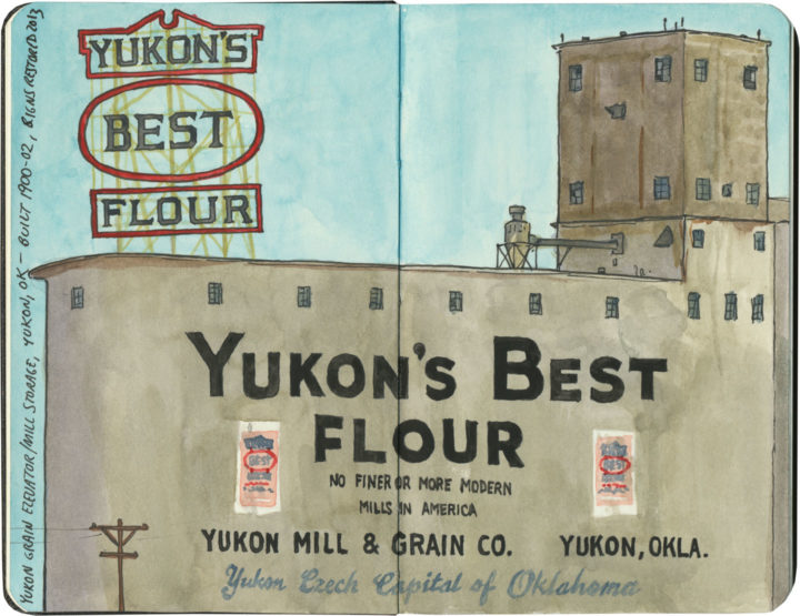 Yukon's Best Flour sketch by Chandler O'Leary