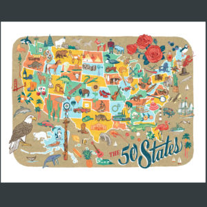 50 States Map illustration by Chandler O'Leary