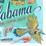 Detail of Alabama illustration by Chandler O'Leary