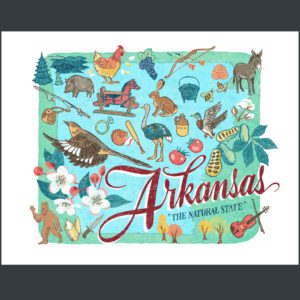 Arkansas illustration by Chandler O'Leary