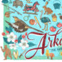 Detail of Arkansas illustration by Chandler O'Leary