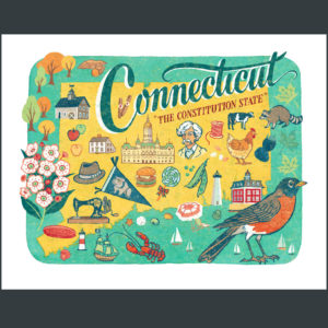 Connecticut illustration by Chandler O'Leary