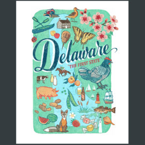 Delaware illustration by Chandler O'Leary