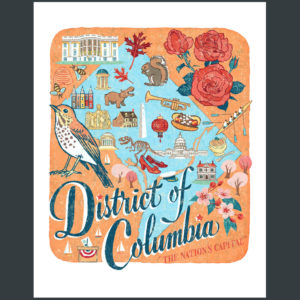 District of Columbia (Washington, DC) illustration by Chandler O'Leary