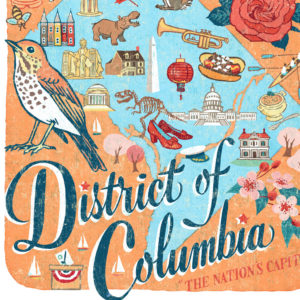 Detail of District of Columbia (Washington, DC) illustration by Chandler O'Leary