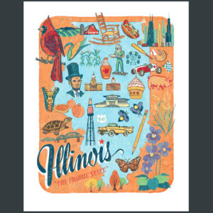 Illinois illustration by Chandler O'Leary