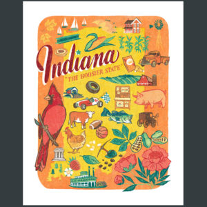 Indiana illustration by Chandler O'Leary