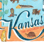 Detail of Kansas illustration by Chandler O'Leary